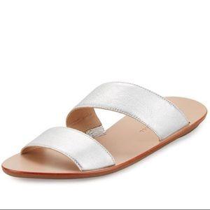 NIB Loeffler Randall Silver Clem Sandals Size 9